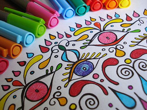 colorare un mandala coi bambini